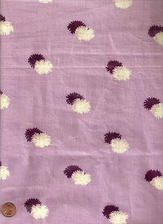 Vintage 1920's Pom Poms Chintz Fabric