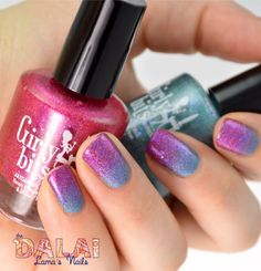Girly Bits limited edition and blogger polish swatch and review What Happens in Vegas, Ends up on Instagram and Get Weaponized