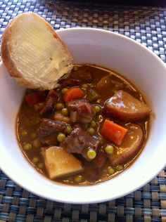 THE BEST BEEF STEW EVER ~ My family & I love beef stew, I made this version for dinner tonight – it was delicious! I sub'd things a little – used Worcestershire sauce instead of wine & removed the BBQ sauce but followed the rest of the recipe to taste & we loved it! Thanks for sharing :O)
