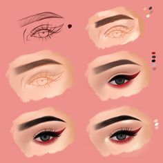 Eye eyeliner catline makeup tutorial Eyeliner, Halloween Face Makeup, Lipstick, Eyes, Instagram, Beauty, Step By Step, Illustrations, Lipsticks