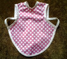 Waterproof Bapron/The Baby Apron - 24 months - 3T, Pink with White Polka Dots by GrandmaSewsBest on Etsy