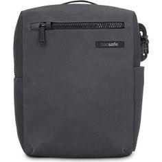 PacSafe Intasafe Anti-Theft Shoulder Bag Charcoal | Buy Shoulder Bags