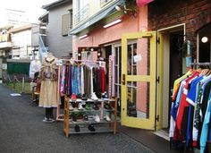 Shimokitazawa: vintage and retro clothing stores, tiny bars, cafes, cheap and cheerful restaurants, live music venues, second hand record stores, homewear stores and more.