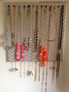 Incredibly easy to make, GORGEOUS way to display and store your statement necklaces