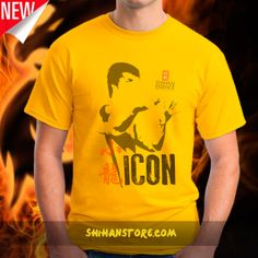 Inspired by Bruce Lee ... Some men have gone beyond their Art. Master, innovator, role model, celebrity, philosopher…  Just a piece of an image, a glance to a couple of lines, a small group of words are enough to understand and feel inspired by his Way of living. Become an ICON. https://shihan-essence.myshopify.com/products/icon-tee