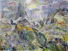 Oskar Kokoschka, 'Matterhorn II,' 1947. Art And Hobby, Austro Hungarian, Gustav Klimt, New Shows, Great Artists, Ethereal, Sculpture, Drawings, Illustration