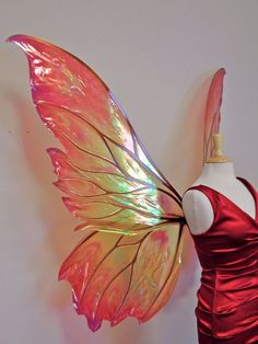 Giant Clarion Painted Fire Fairy Wings by TheFancyFairy on Etsy Giant Butterfly, Butterfly Painting, Butterfly Fairy, Butterfly Wings, Elf Kostüm, Halloween Bonito, Fire Fairy, Fairy Tales, Halloween Costumes