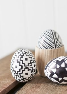 Black and White Graphic Easter Eggs - Earnest Home co.