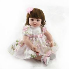 116.81$ Watch here - http://ali70n.worldwells.pw/go.php?t=32712806188 - 22 inch Fashion Silicone Reborn Baby Dolls Sleeping Babies Real Vinyl Belly 55cm Toys for Children Juguetes Brinquedos Gifts 116.81$