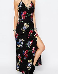 Image 3 ofGlamorous Maxi Dress In Festival Floral Print