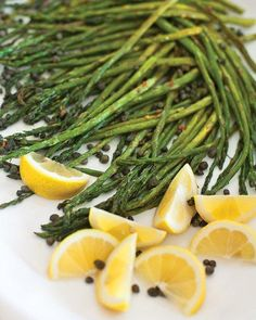 Roasted Asparagus with Capers and Lemon Recipe