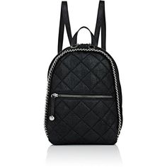 Stella McCartney Women's Falabella Shaggy Deer Mini-Rucksack (4.435 RON) ❤ liked on Polyvore featuring bags, backpacks, black, mini bag, miniature backpack, backpack bags, day pack backpack and chain bag