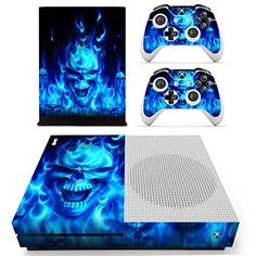 Nice Skulls Xbox One S 3 Sticker Console Decal Xbox One Controller Vinyl Skin Delicacies Loved By All Video Games & Consoles Faceplates, Decals & Stickers