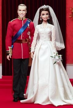 Will and Kate Middleton Barbie Dolls. I desperately want these, but they are going for a minimum of $250 on ebay.