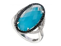 Diamond Turquoise Ring | Pendants from Davidson Jewelers | East Moline, IL