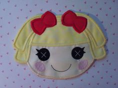 LaLa Loopsy Applique Doll Iron On Applique by Pinpoint on Etsy, $7.95