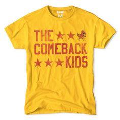 "Iowa State Cyclones Basketball T Shirt.  ""The Comeback Kids"""