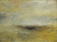turner paintings tate   JMW Turner, Seascape with Storm Coming On c1840, Oil paint on canvas ...