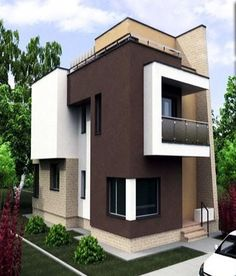Top 10 Modern house designs – Modern Home Modern House Facades, Modern House Design, Modern Architecture, House Paint Exterior, Exterior Design, Home Modern, Bohemian Style Bedrooms, House Elevation, Facade House