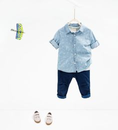 Shop by look - baby boy 3 months - 3 years - kids zara united states litt. Little Boy Outfits, Baby Boy Outfits, Kids Outfits, Baby Boy Fashion, Kids Fashion, Zara Boys, Sweatpants Outfit, Baby Kids Clothes, Stylish Kids