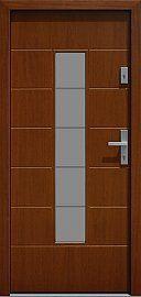 Drzwi zewnętrzne nowoczesne model 466,2b+ds11 w kolorze ciemny dąb
