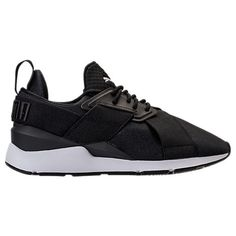 PUMA WOMEN'S MUSE SATIN EP CASUAL SHOES, BLACK. #puma #shoes #