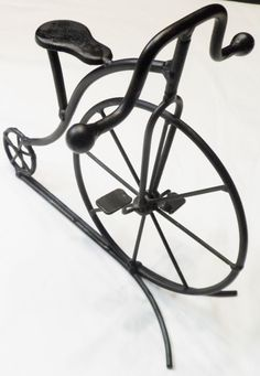 $44.95/ Big Wheel Bicycle Black Bike cycling Sculpture with stand ~Home Decor Accent measures 8 x 9 ~sports metal art  ~~see over 20 categories of merchandise in my store. SHIPPING IS ALWAYS FREE in the USA; I do ship globally. www.shellyssweetfinds.com