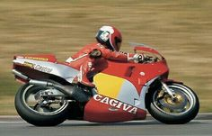 King Kenny Roberts testing Cagiva 500 cc 2s