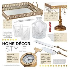 """""""Home Decor-Gold"""" by pokadoll ❤ liked on Polyvore featuring interior, interiors, interior design, home, home decor, interior decorating, Loewe and Vellum"""