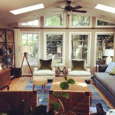 just really like the whole vibe of this room! Clients' Family Room Before & After Sneakity Peek