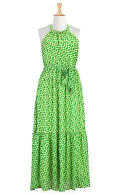 I <3 this Graphic print maxi dress from eShakti