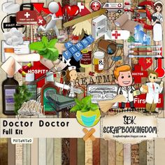 Doctor Doctor Scrapbook kit by Deanne Gow-Smith & Kaye Savic - SCRAPBOOKINGDOM  Payment received!
