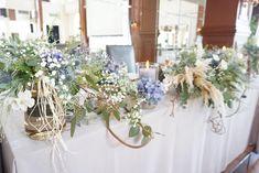 #banquet とても柔らかい雰囲気をお持ちのおふたり。 お話ししてくださるイメージはすべておしゃれ。 そんなおふたりらしい、おしゃれで季節感のある コーディネートになりました ◎ ◎ ◎ #wedding #flower #flowers #natural…」