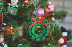 Just be happy!: Mini Wreath - Free Crochet Pattern