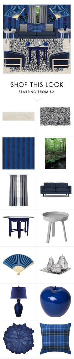 """""""Silver and blue decor"""" by gothbear13 ❤ liked on Polyvore featuring interior, interiors, interior design, home, home decor, interior decorating, Eldon, Aquanova, Versace and Room Essentials"""