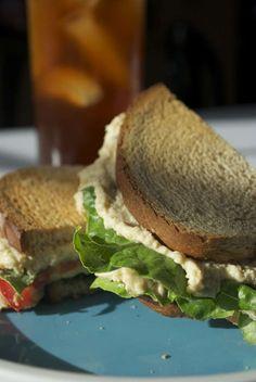 Vegan Chicken Salad add relish smoked paprika and cilantro