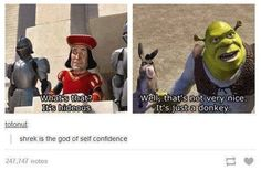 Tumblr comment. Shrek