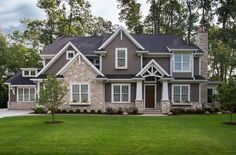 Exterior Paint Colors Dark Brown james hardie board siding (gray), white trim, red door. first