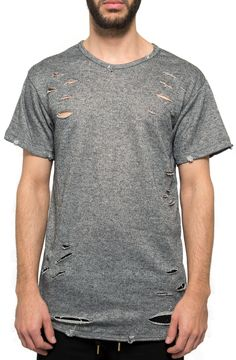 Heavy Destroyed Tee in Heather Gray – Fashion X Freedom