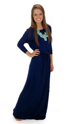 Women's Intuition Maxi, Navy :: NEW ARRIVALS :: The Blue Door Boutique