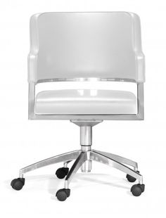 Perform in style and comfort with the Performance office chair. The Performance comes in black or white leatherette on a sturdy chrome base with wheels.