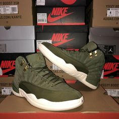 detailed look cc1a0 f6cd1 🚨Nike Air Jordan 12 Retro CP3 Chris Paul Green Olive 2003 130690-301 Size  8.5  shoes  kicks  solecollector