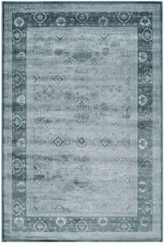 Light Blue Viscose Safavieh Power Loomed Vintage Area Rug 9' X 12' #Safavieh #Contemporary