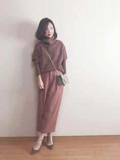 大好きブラウンモカのワントーン♡♡ shiiちゃんがこのイヤリングが ワントーンコーデに似合いそう