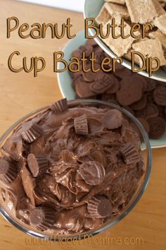 This Peanut Butter Cup Batter Dip will be the hit of any party, it is a nice sweet treat that will have all peanut butter and chocolate lovers coming back for more! It won't take you long to make and you can have many different things like pretzels, graham crackers, or fruit to dip in it!