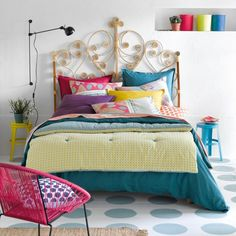 Headboards Home & Furniture Kid Room Style, Decor, Furniture, Pink Chair, Fashion Room, Bedroom Inspirations, Home Furniture, Home Bedroom, Colorful Decor
