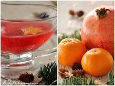 Lavanda e rosmarino: Aperitivo con melograno e mandarino