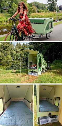 Camping Life, Rv Camping, Camping Hacks, Outdoor Camping, Glamping, Bike Trailer, Camper Trailers, Foldable Trailer, Camping Mattress