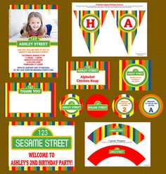 Sesame street party Sesame Street Cupcakes, Sesame Street Party, Sesame Street Birthday, Elmo Birthday, First Birthday Parties, First Birthdays, Birthday Ideas, Sesame Street Muppets, Elmo Party
