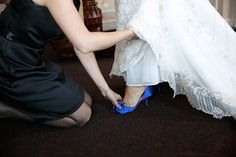 Kate Spade Sala pump in Cobalt / Photo from Annie & Joe- Wedding collection by Kina Wicks Prints